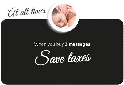 Save taxes when you buy 3 massages
